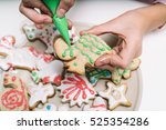 hands of little girl making... | Shutterstock . vector #525354286