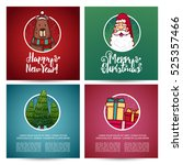 set of designs christmas cards... | Shutterstock .eps vector #525357466