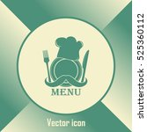 chef hat with mustache. foods... | Shutterstock .eps vector #525360112