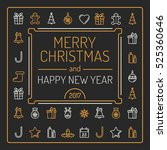 merry christmas and happy new... | Shutterstock . vector #525360646
