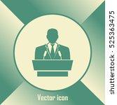 speaker icon. orator speaking... | Shutterstock .eps vector #525363475