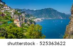 panoramic picture postcard view ... | Shutterstock . vector #525363622