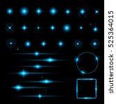 set of glow light effect stars... | Shutterstock .eps vector #525364015