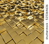 Abstract Reflective Gold Cubes...