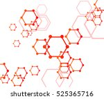 abstract molecular structure... | Shutterstock .eps vector #525365716