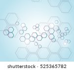 abstract molecular structure... | Shutterstock .eps vector #525365782