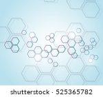 abstract molecular structure... | Shutterstock .eps vector #525365782