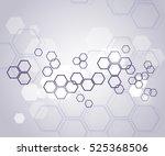 molecular background | Shutterstock .eps vector #525368506