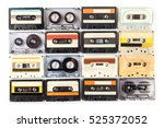 vintage cassette tape isolated... | Shutterstock . vector #525372052