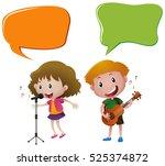 speech bubble template with...   Shutterstock .eps vector #525374872