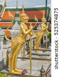traditional golden statues... | Shutterstock . vector #525374875
