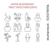 upper respiratory tract... | Shutterstock .eps vector #525378556