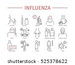 influenza. flu symptoms ... | Shutterstock .eps vector #525378622