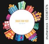 vivid presents around the... | Shutterstock .eps vector #525387376