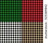 tartane backgrounds set  vector ... | Shutterstock .eps vector #525389842