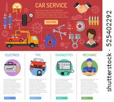 car service and roadside... | Shutterstock .eps vector #525402292
