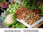 a display of vegetables in the... | Shutterstock . vector #525403486
