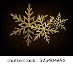 vector golden glitter... | Shutterstock .eps vector #525404692