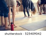 diversity people exercise class ... | Shutterstock . vector #525409042