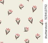 flower pattern background.... | Shutterstock .eps vector #525413752