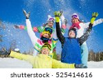 group of friends have a good... | Shutterstock . vector #525414616