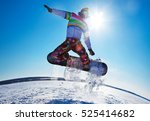extreme winter on snowboard in... | Shutterstock . vector #525414682