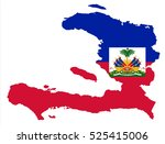 vector map haiti country on... | Shutterstock .eps vector #525415006