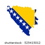 map of bosnia herzegovina... | Shutterstock .eps vector #525415012