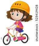 Girl Wearing Helmet When Ridin...