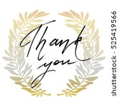 thank you hand drawn lettering... | Shutterstock . vector #525419566