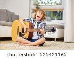 Boy Having Fun Making Music...