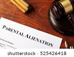 parental alienation form and... | Shutterstock . vector #525426418