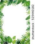 green leaf border background | Shutterstock . vector #525440182