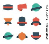 set of modern flat design style ... | Shutterstock .eps vector #525441448