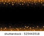 glittering gold stars and trail ... | Shutterstock .eps vector #525443518