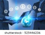 businessman working on laptop... | Shutterstock . vector #525446236