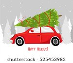 happy holidays  merry christmas ... | Shutterstock .eps vector #525453982