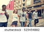 friends hipster teenager... | Shutterstock . vector #525454882