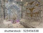 luxurious turkish steam bath  ... | Shutterstock . vector #525456538