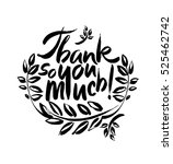 thank you so much handwritten... | Shutterstock .eps vector #525462742