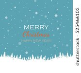 christmas and new year card ... | Shutterstock .eps vector #525466102