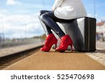 Woman In High Heels At Train...