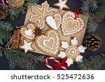 christmas gingerbread | Shutterstock . vector #525472636