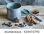 ingredients for cooking masala... | Shutterstock . vector #525472792