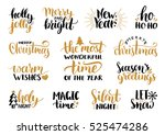 vector handwritten christmas...