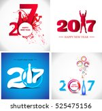 happy new year 2017 abstract... | Shutterstock .eps vector #525475156