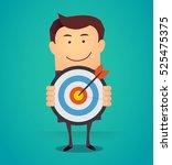 funny cartoon business man... | Shutterstock .eps vector #525475375
