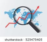 analyzing icon. graph with... | Shutterstock .eps vector #525475405