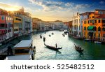 grand canal in venice at the... | Shutterstock . vector #525482512