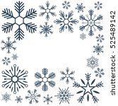 merry christmas and happy new... | Shutterstock .eps vector #525489142